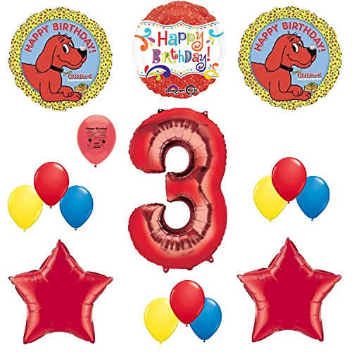 Clifford the Big Red Dog Party Supplies 3rd Birthday Party Balloon Decoration Kit