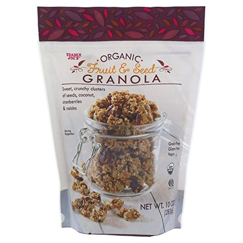 Trader Joe's Organic Fruit and Seed Granola Grain Free Gluten Free Vegan 10OZ (283g)
