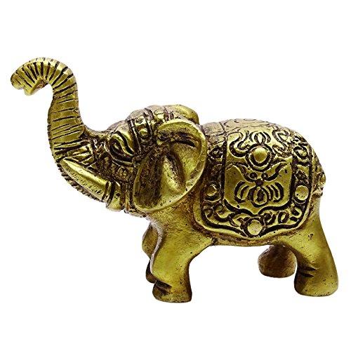 Decorativo elefante de bronce estatua de metal de Inicio del tablero de instrumentos Decoración de oro Estatuilla del tono