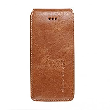 sports shoes ccabd bade5 dbramante1928 Flip Up Leather Case for Apple iPhone 5/5S - Golden Tan