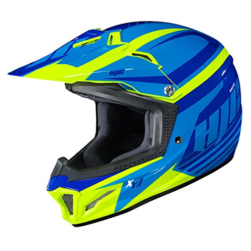 HJC Youth CL-XY 2 Helmet - Bator (Large) (Blue/HI-VIZ)