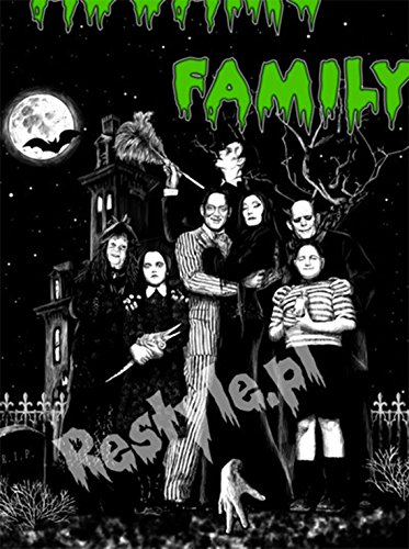 erdbeerloft - Damen Casual T-Shirt mit Addams Family Print, XS-L