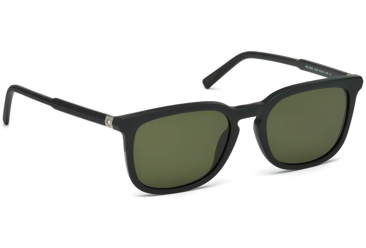 Mont Blanc MB 606S 01D Black Grey Polarized Rectangular Men Sunglasses 54mm New