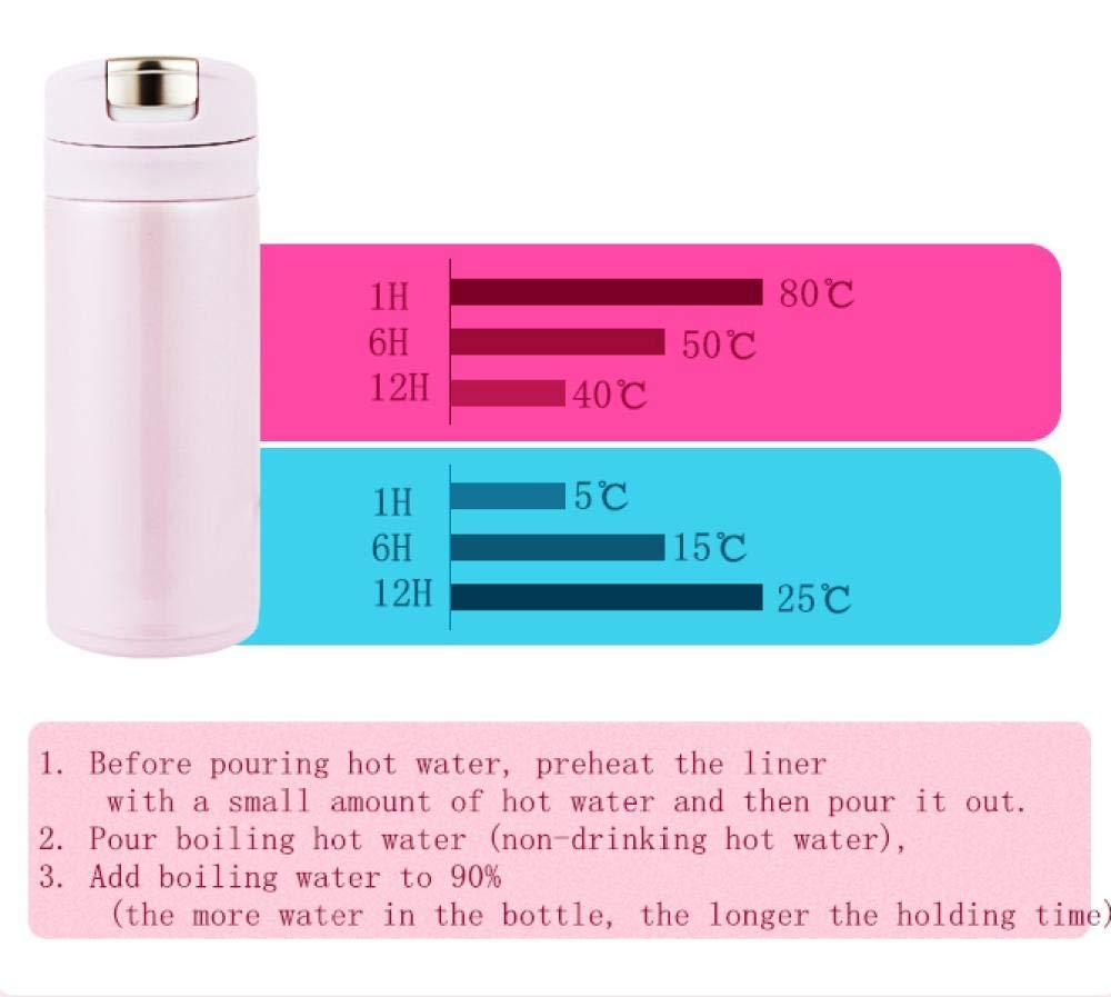 Kmrwyx Botella de Agua Frascos térmicos para Bebida Termos de ...