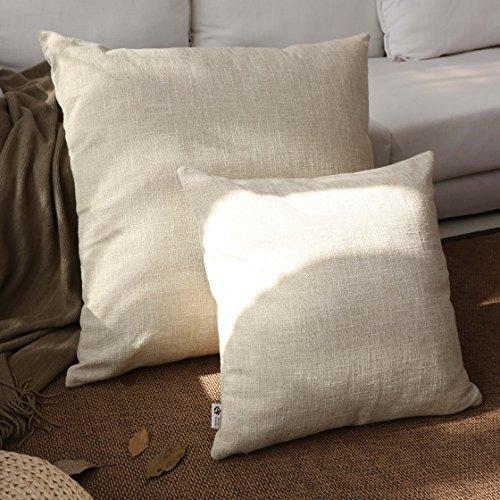Kevin Textile Decor Lined Linen Pillow Cover Burlap Square T