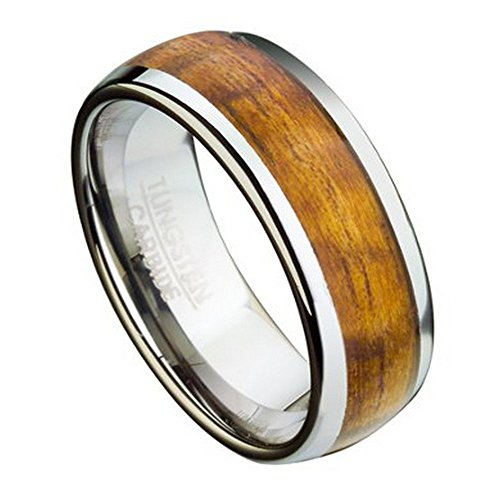 polished-finish-8mm-comfort-fit-tungsten-wedding-ring-for-men-with-koa-wood