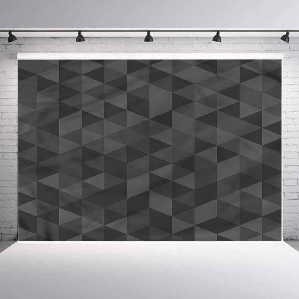 6x6FT Vinyl Photography Backdrop,Contemporary,Monochrome Triangles Photoshoot Props Photo Background Studio Prop