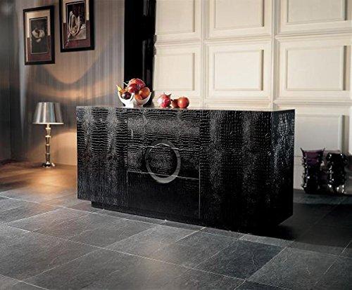 Black Lacquer Buffet - VIG Furniture A&X Ovidius Modern Black Crocodile Lacquer Buffet
