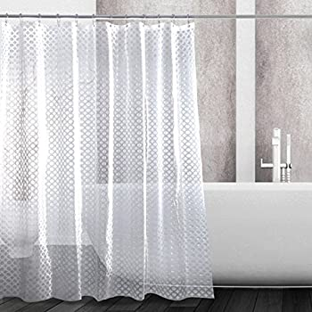 Eforcurtain Small Size 36Inch Wide By 72Inch Long 3D Effect Shower Curtain Liner With 2 Magnets