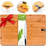Bamboo Cutting Board - Large Wood Chopping Board for Meat and...
