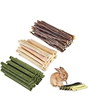 picidae Hamster Chew Toys Natural Apple Sticks Bunny Apple Sticks Natural Apple Wood Sticks Branches Snacks Clean Teeth for Hamster Chinchilla Guinea Pigs and All Need Molar Rodents(300g)