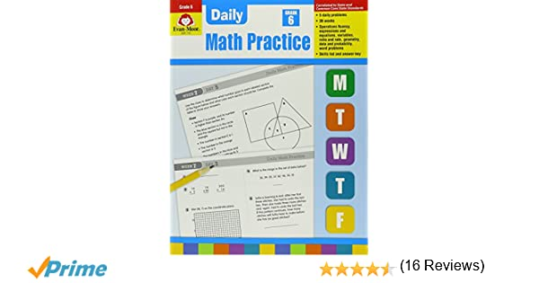 Daily Math Practice Grade 6: Wes Tuttle: 0023472007551: Amazon.com ...