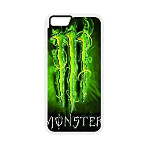 Protection Cover iPhone 6 Plus 5.5 Inch White Phone Case Olxjx Monster Energy Personalized Durable Cases