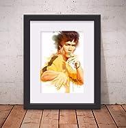 Quadro Decorativo Bruce Lee Karatê 46x56cm Paspatur & Vidro