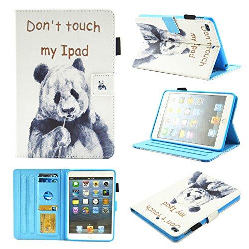 Tramako Leather Case Compatible with iPad Mini 5 7.9 inch 2019, Premium PU Leather Flip Folio Slim Smart Case with Auto Sleep/Wake for Apple iPad Mini 1/2/3/4/5 7.9 inch (Don't Move Panda)