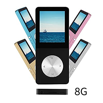 Ultrave Portable 8GB MP3 MP4 Player Expandable up to 64GB Supports FM Radio E-book Photo Viewer Calendar Alarm Screensaver With External Speaker