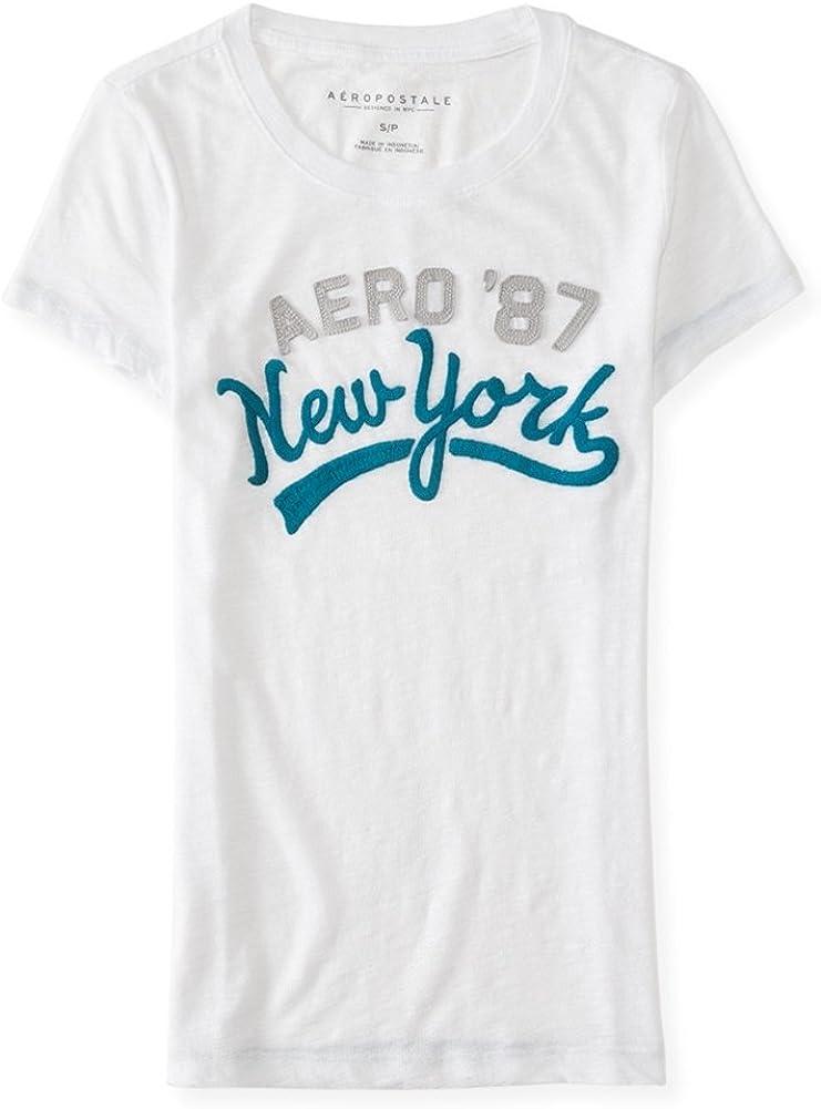 AEROPOSTALE Womens Script Embellished T-Shirt 586 XS