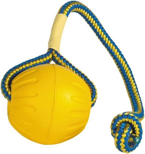 Starmark SMFFBRL, Bola de espuma en una cuerda, Juguete para perro, L