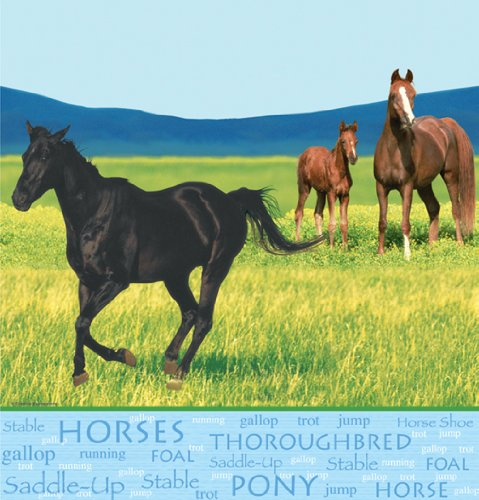 Wild Horses Plastic Tablecover Party Accessory, Health Care Stuffs