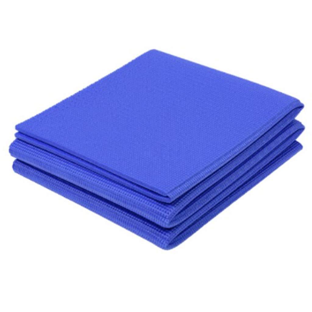 YUN HAI Yogamatten, die Gymnastik- und Übungsmatte Falten, PVC-Material, perfekt für Aerobic, Yoga, Kampfsport, Pilates, Übung, Training, Bikram und heißes Yoga (Farbe : Blau)