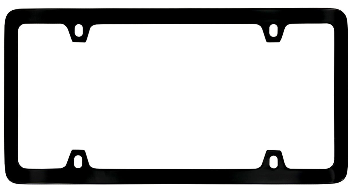4 Hole // Brass, Gold Thin Rim Only License Plate Frame