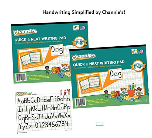 2 PAK! save cost on shipping! Channie's Visual Handwriting Workbooks for 1st - 3rd grades 80 pages 8 x 11.5 paper
