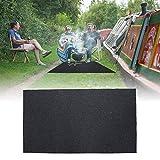 Zerone Grill Splatter Mat,Fireproof Heat Resistant BBQ Gas Grill Splatter Mat Backyard Floor Protective Rug to Protect Decks and Patios 48.81'' x 29.53''