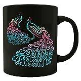 Cool Peacock - Green Blue Turquoise Colored Bird - Animal Wildlife - Mug