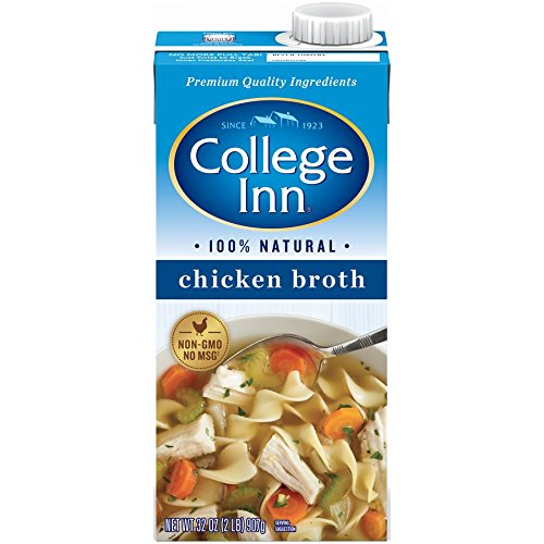 College Inn 100% Natural Chicken Broth in Aseptic Carton, 32-Ounce (Pack of 12)