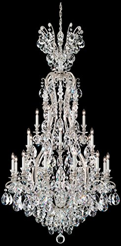 Schonbek 3783-55SH Swarovski Lighting Renaissance Chandelier, Wet Black