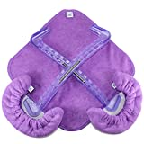 CRS Cross Skate Guards, Soakers & Towel Gift Pack - Figure Skating Hard and Soft Skate Blade Covers (Pivot Purple, Medium)