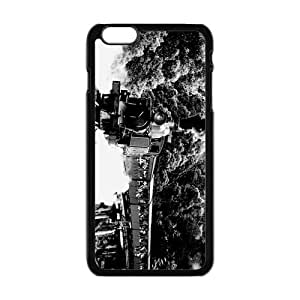 """Durable Platic Case Cover for iPhone6 Plus 5.5""""-Old Steam Train Pattern Printed Cell Phones Shell"""