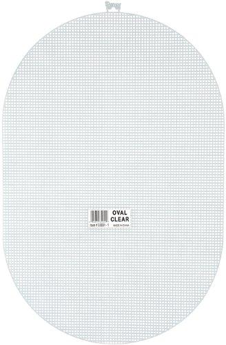 Darice 7 Mesh Plastic Canvas - Clear Oval - 12 x 18
