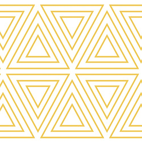 Tempaper Kids Gold and White Triangles | Designer Removable Peel and Stick Borders and Stripes ()