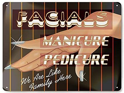 Amazon.com: Beauty Shop Manicura Metal Sign/Nail Salon ...