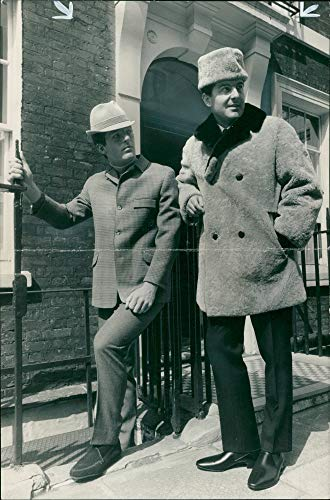 Vintage photo of Fashions: richmond a short coat in black and white herring bone.