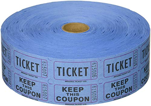 Blue Double Raffle Ticket Roll 2000 (Tickets)