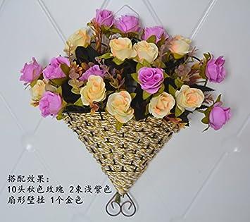 WANG Shunlida Künstliche Blumen Die Wand Dekor Schlafzimmer Wand Dekoration  Blumen Warenkorb Home Einrichtung Wohnzimmer