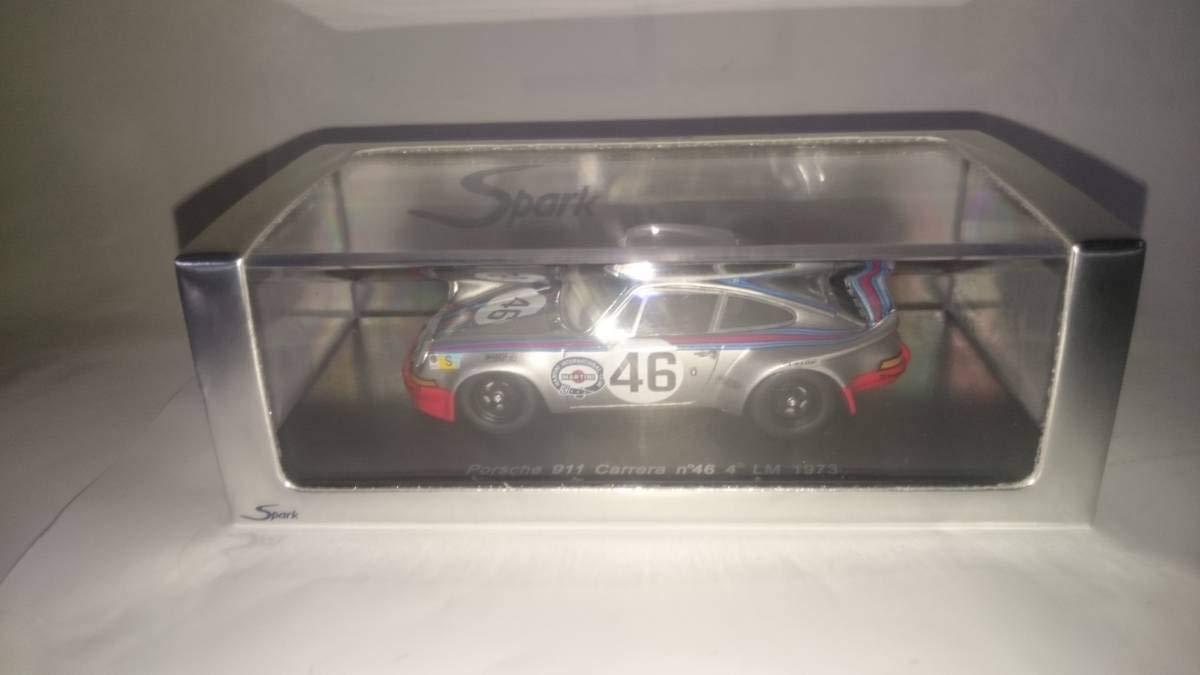 スパーク 1/43 マルティニ ポルシェ 911 カレラ 1973年ルマン24h4位 46 レネップ/ミューラー B07SVL2D14