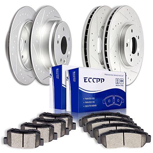 Brake Kits,ECCPP Front Rear Discs Brake Rotors and Ceramic Disc Brake Pads Kit for 1999 2000 2001 2002 2003 Acura TL 3.2L ()