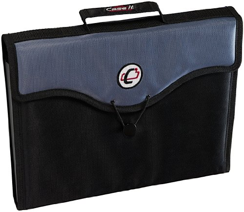 Case-it 13-Pocket Expanding File with Handle and Shoulder Strap, EFF-30-BLK