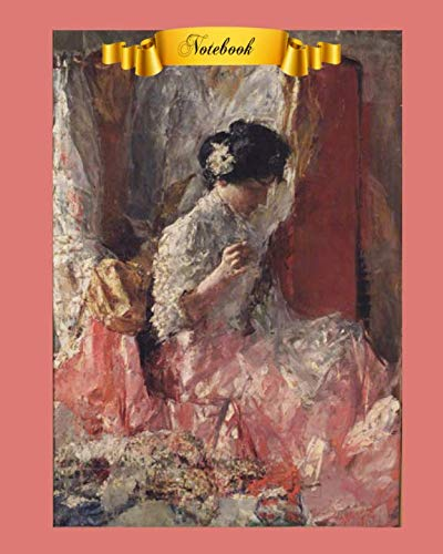 Notebook: Beautiful Women in  Art Cover Notebook For Mom,  8 x 10