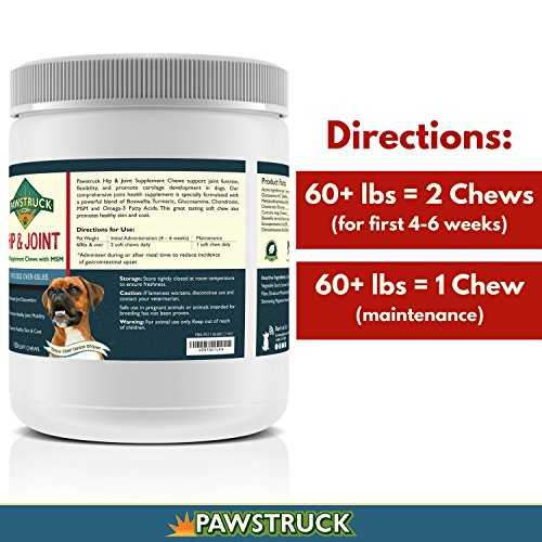 Natural Hip and Joint Supplement for Dogs in Bulk - Soft Chew Pain Relief & Prevention, Glucosamine For Dogs w/ Chondroitin & MSM for Healthy Canines, Made in USA (Large & Giant Dogs - 150 Count) by Pawstruck (Image #5)