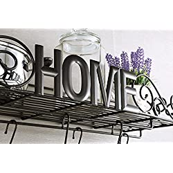 Sparkworks Heavy-duty Wrought Iron Pot Rack (Bronze)