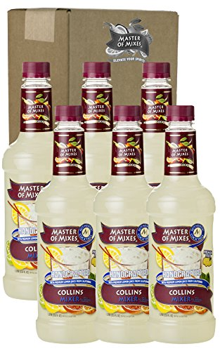 Master of Mixes Collins Drink Mix, Ready to Use, 1 Liter Bottle (33.8 Fl Oz), Pack of -
