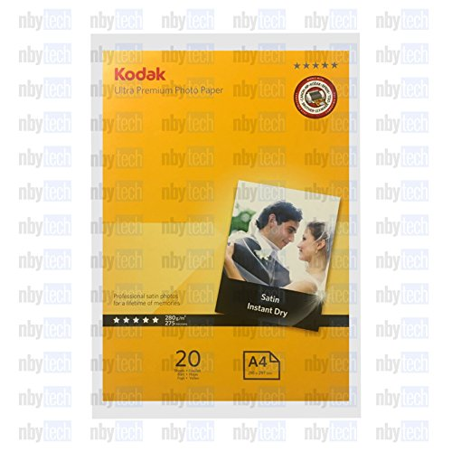 Kodak Inkjet Satin Ultra Premiun Photo Paper A4 20 Sheets (11.7