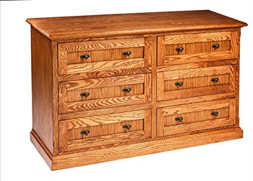 Mission Oak Oak Dresser - Forest Designs Mission Oak Six Drawer Dresser, 60