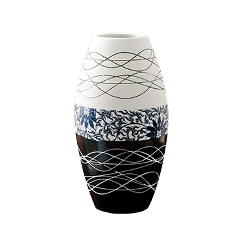 MAHONGQING セラミック花瓶リビングルームの装飾現代のミニマリストの家の装飾テレビのキャビネットテーブルの装飾 B07SYZND35