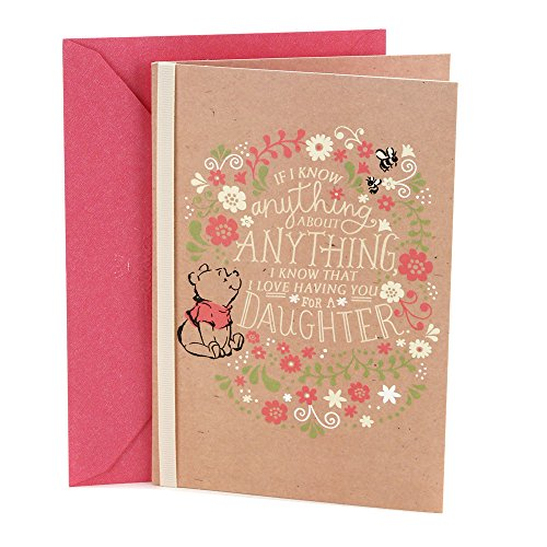 Hallmark Birthday Greeting Card for Daughter (Winnie The Pooh)