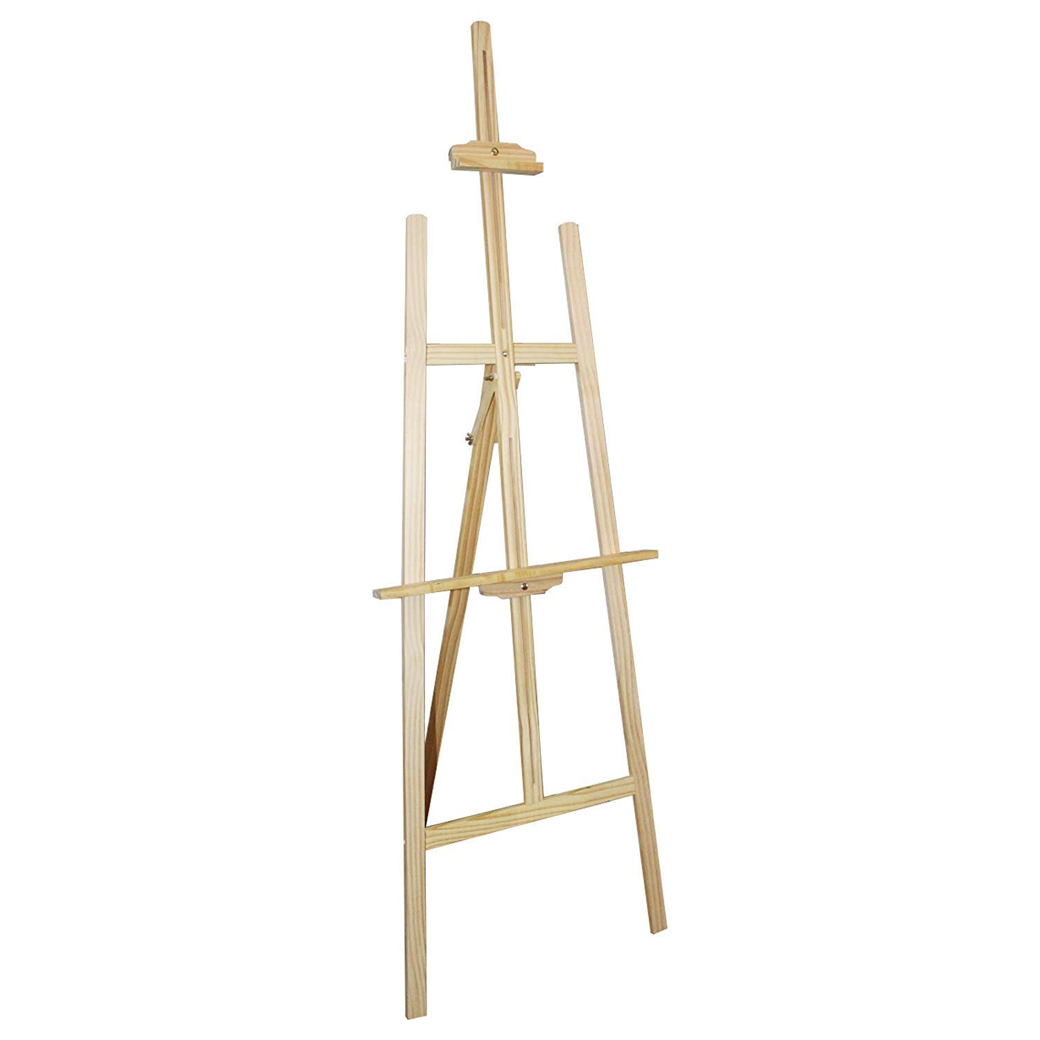 Professional Wooden Art Display Canvas Painting Easel by Kurtzy - 137cm Tall Adjustable Wood Easel for Kids and Adults - Easy to Assemble - Fits Small and Large Canvas's - High Quality Easels
